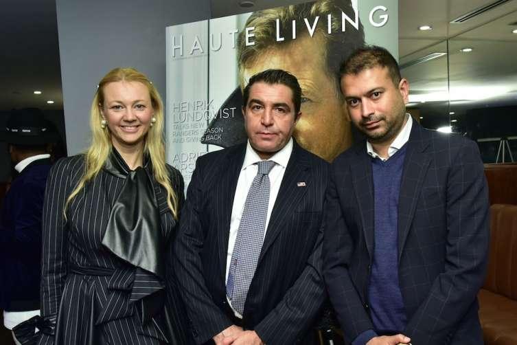 Alisa Roever, Paolo Zampolli, and Kamal Hotchandani