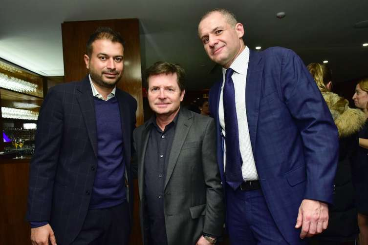 Kamal Hotchandani, Michael J. Fox, and Ronn Torossian