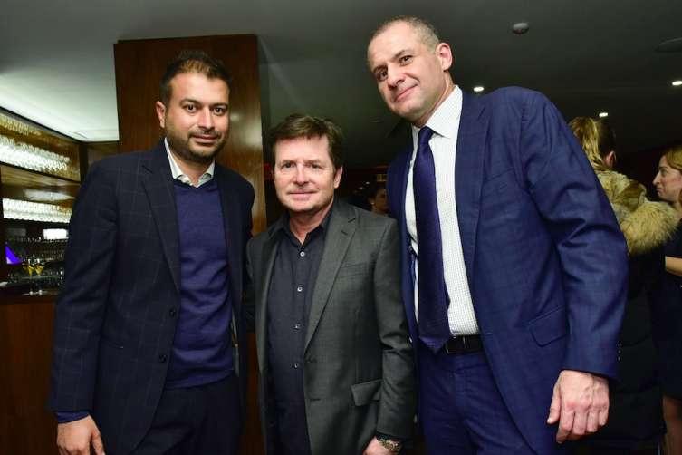 Kamal Hotchandani, Michael J. Fox, and Ronn Torossian