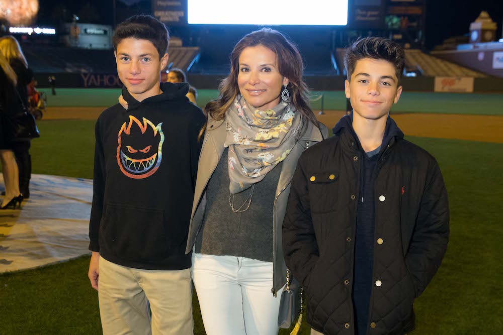 Claudia Ross and her sons at the Holiday Heroes event in December