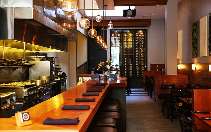 The main dining space at Barrel Room