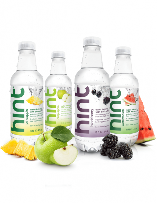 An assortment of Hint Water