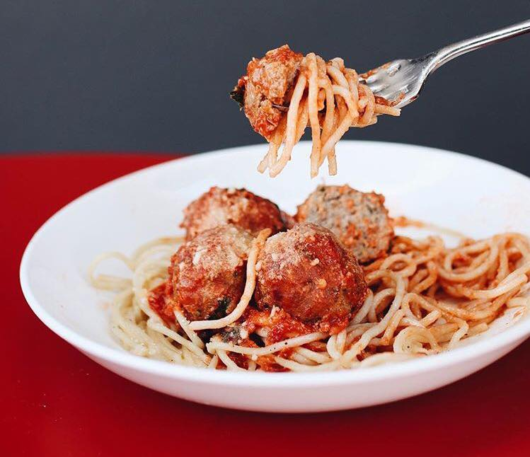 Maybeck's spaghetti and meatballs