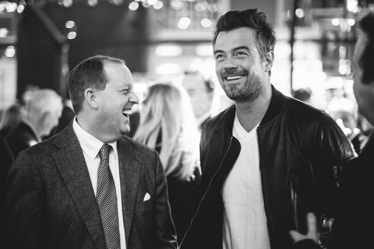 Josh Duhamel has a laugh