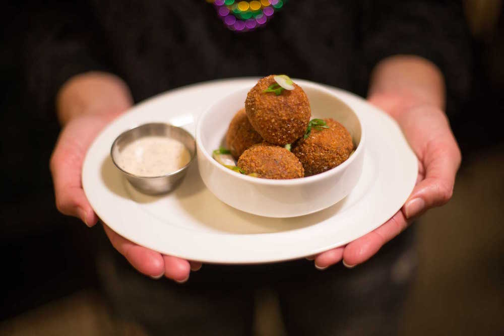 Boudin Balls at Alba Ray's
