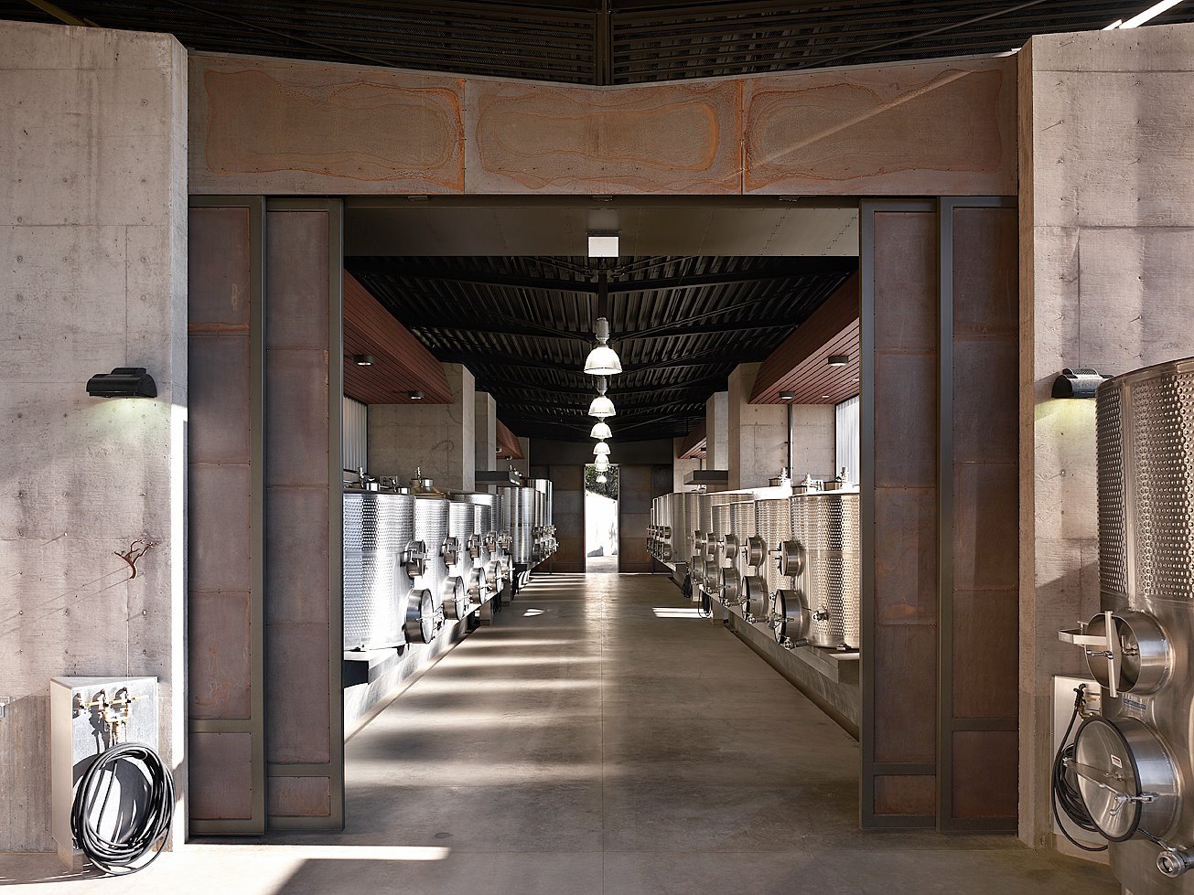 The wine-making facility at Cade