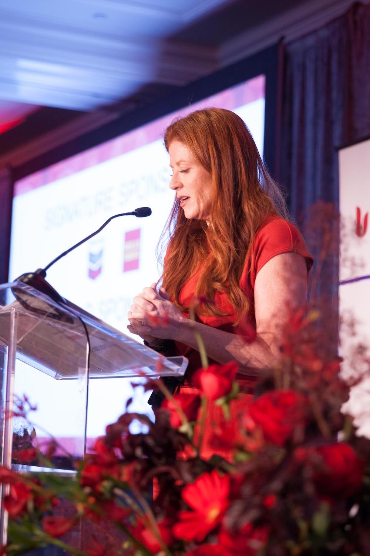 Kara Goldin speaks at the GoRed for Women Luncheon