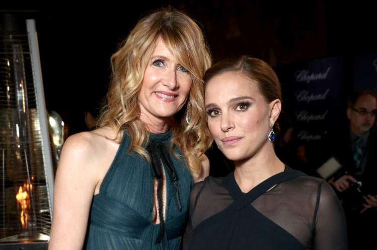 Actresses Laura Dern and Natalie Portman attend the 28th Annual Palm Springs International Film Festival Film Awards Gala