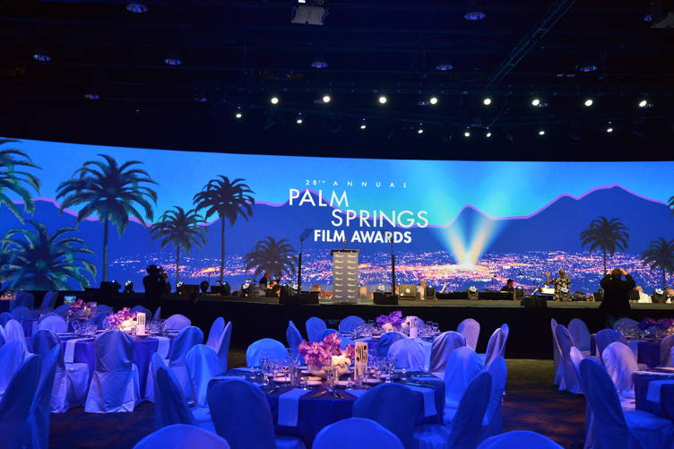 A view inside the ballroom during the 28th Annual Palm Springs International Film Festival Film Awards Gala at the Palm Springs Convention Center
