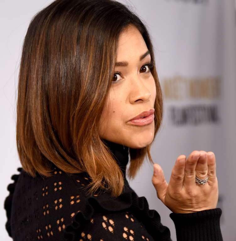 Gina Rodriguez blows fans a kiss