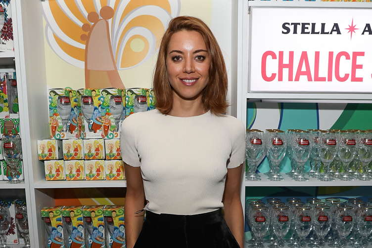 Aubrey Plaza at the 'Ingrid Goes West' party in the Stella Artois Filmmaker Lounge