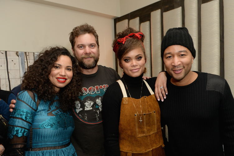 "Jurnee Smollett-Bell, Joshua Jackson, Andra Day, and John Legend attend WGN America's ""Underground"" Season Two Party, hosted by John Legend"