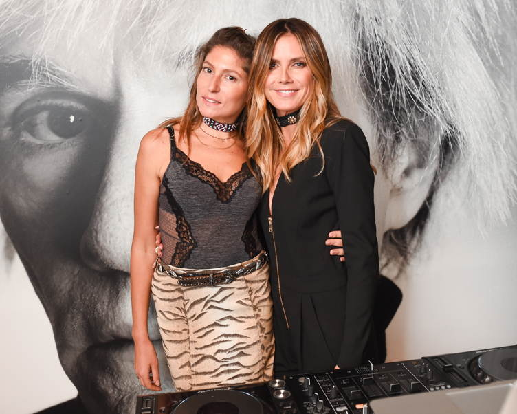 Stella Schnabel and Heidi Klum