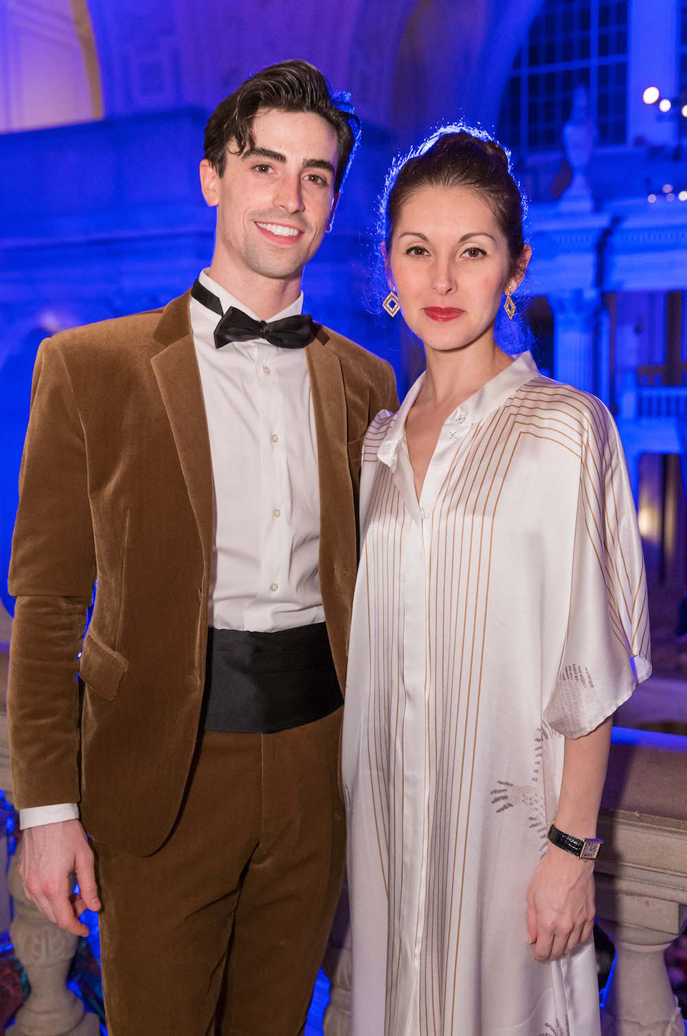 Joseph Walsh and Lauren Strongin at the 2016 opening night gala's after party