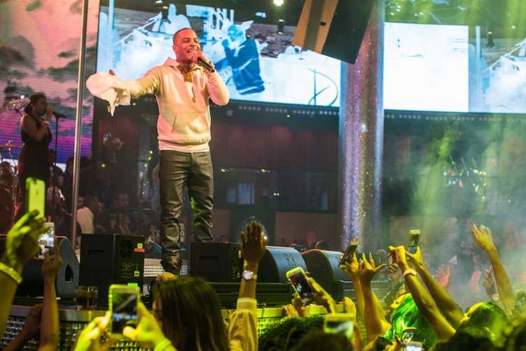 T.I. performs at Drai's.