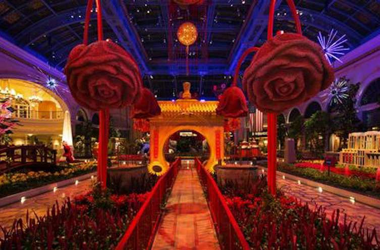 the bellagio celebrates the year of the rooster