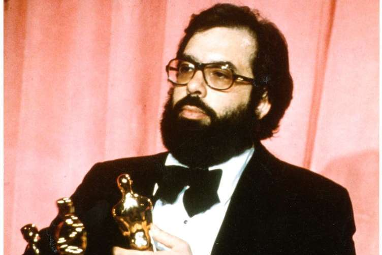 Francis Ford Coppola with his Oscars