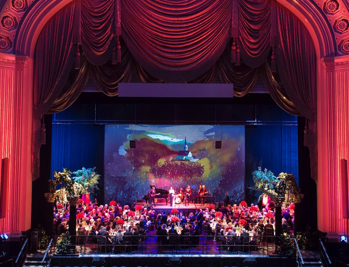 Dinner on the opera stage