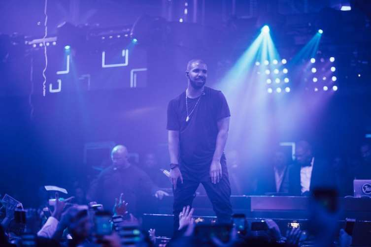 Drake performs at Hakkasan for New Year's Eve.