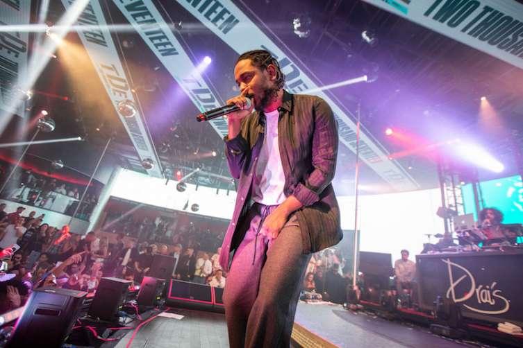 Kendrick Lamar performs at Drai's.