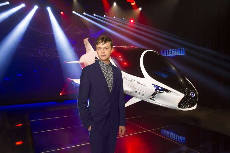 Lexus and Dane DeHaan, star of the upcoming film Valerian and the City of a Thousand Planets, unveil the debut of a model of the SKYJET - a single-seat pursuit craft featured in the film at the Lexus 'Through The Lens' event