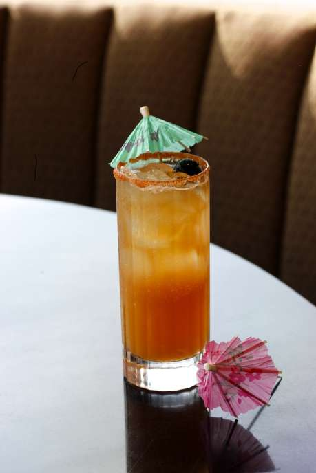 Buckhead Diner's new cocktail Tiki Thai takes away the winter blues.