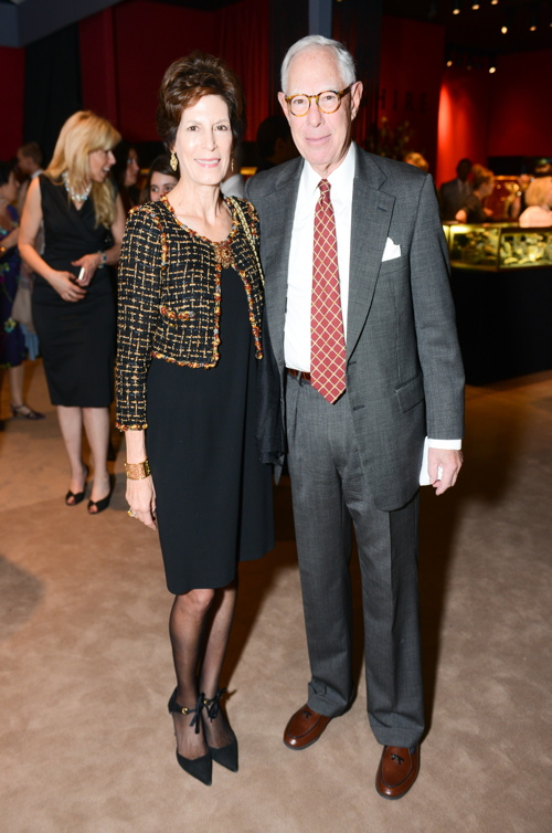 Arie Kopelman, co-chair of the Winter Antiques Show, with his wife, Coco.