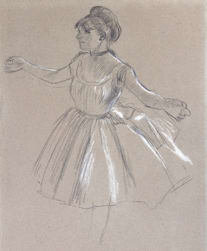 Degas drawing at the JIll Newhouse Gallery