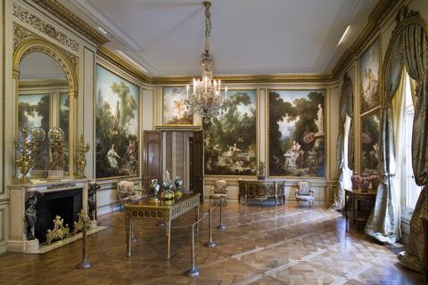 The Fragonard Room at the Frick Museum, one of the rooms in which the play will be performed.