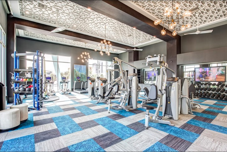 Elysian at Stonelake's fitness center.