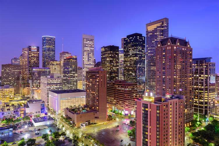 The Houston skyline