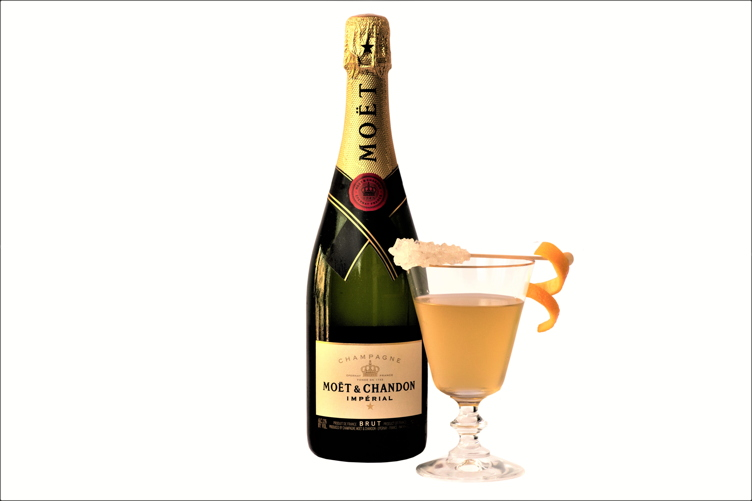 The Moet Diamond cocktail, which is made with Moet & Chandon champagne