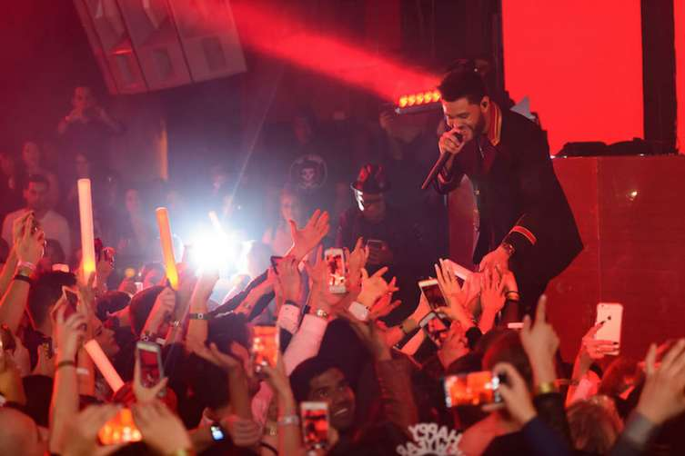 The Weeknd performs at Marquee.