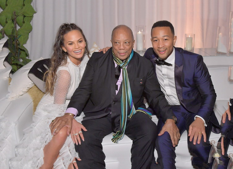 Chrissy Teigen, Quincy Jones & John Legend attend the Art of Elysium's Heaven gala