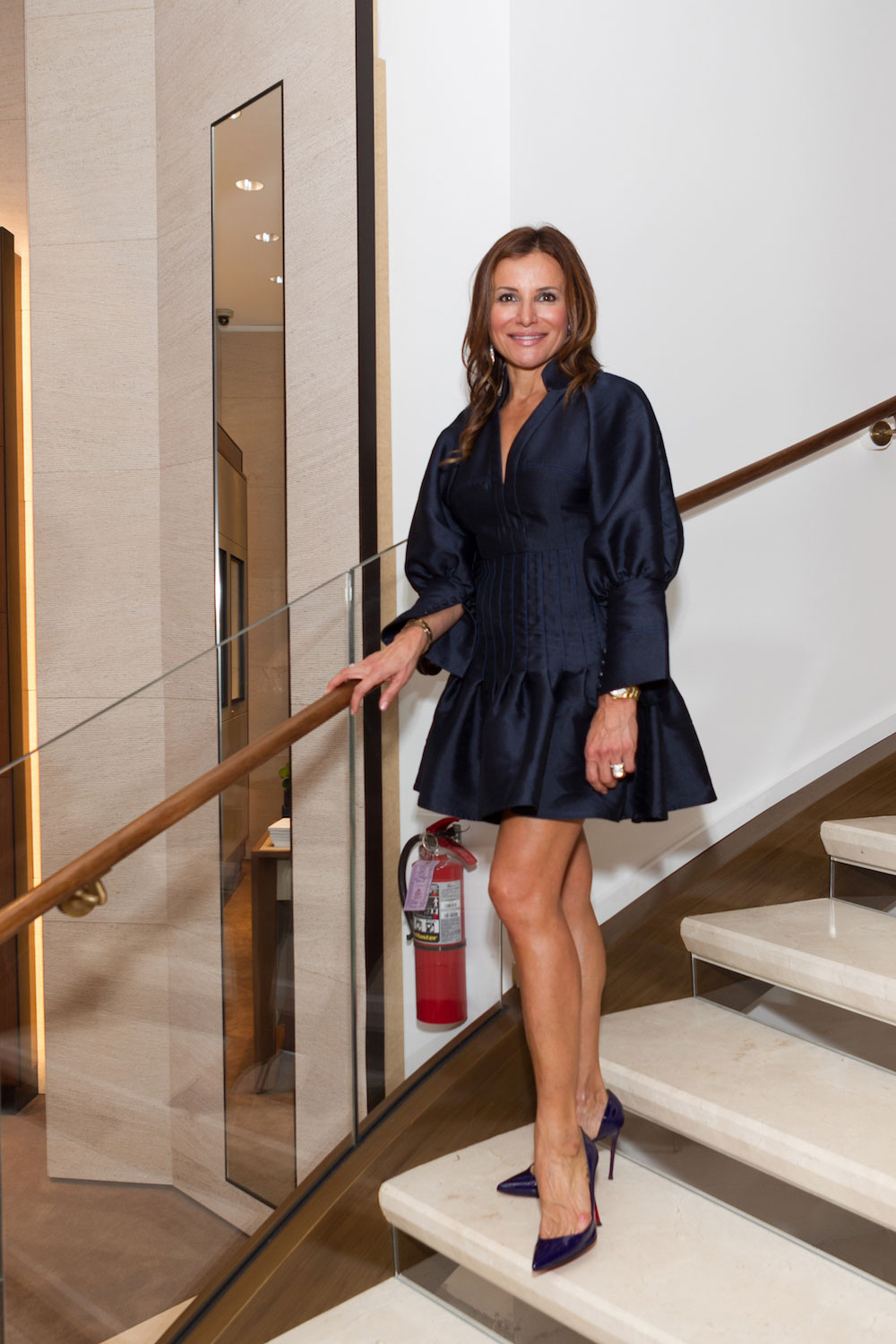 Claudia Ross at the Shreve & Co. opening party in December