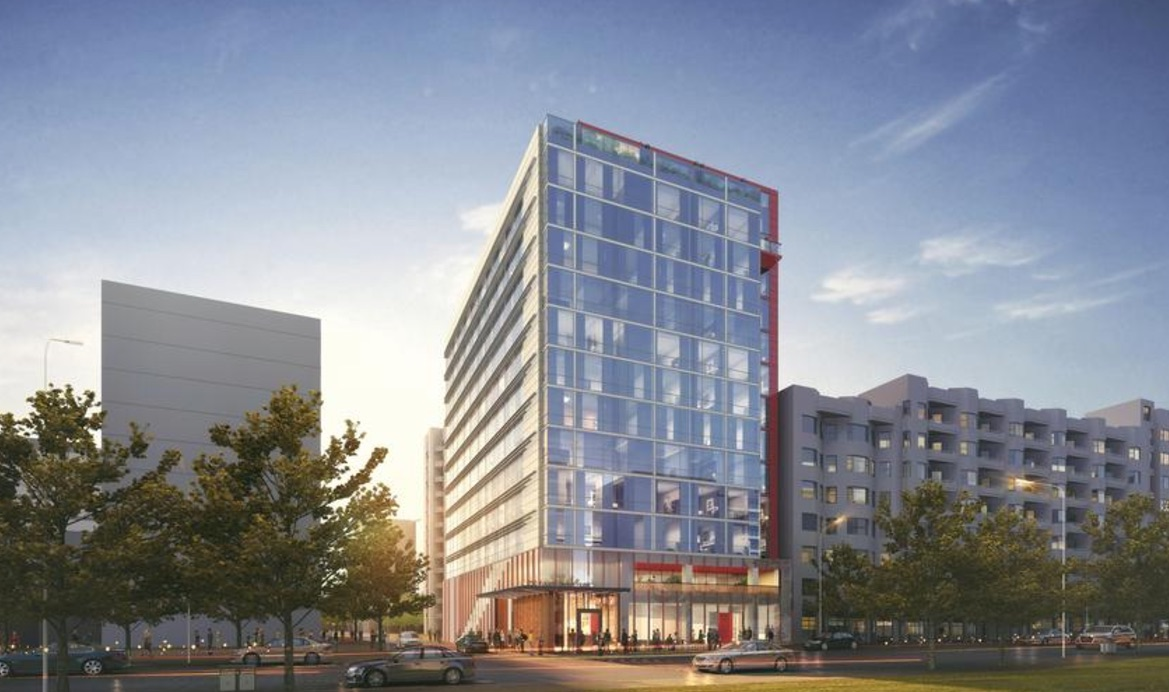 A rendering of a new hotel to open at 250 4th Street later this year