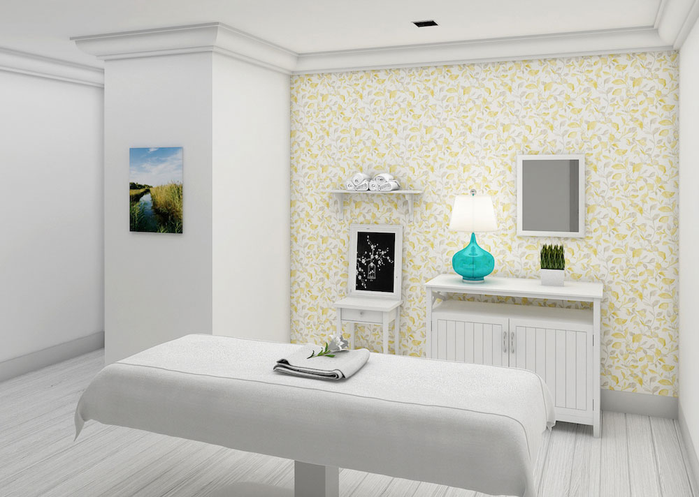 A treatment room at the Ritz-Carlton's new spa