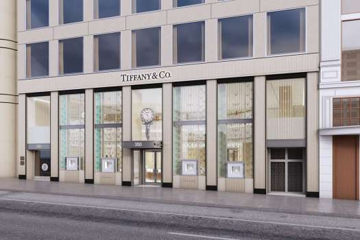 A rendering of the new Tiffany & Co. storefront