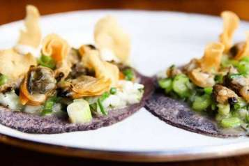 Clams & Lardo tacos at B.S. Taqueria