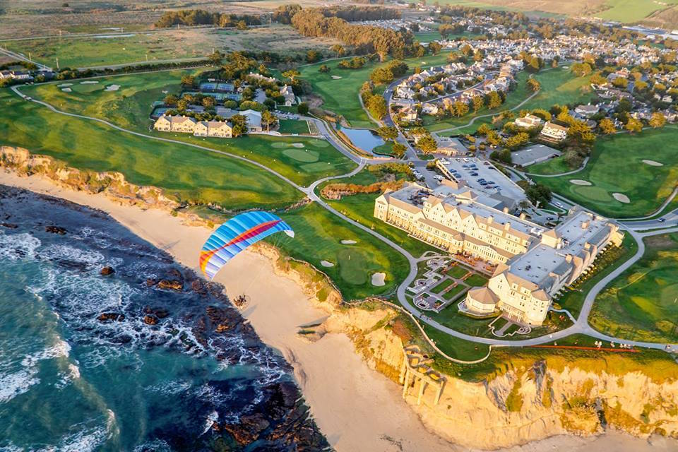 A bird's eye view of the Ritz Carlton Half Moon Bay