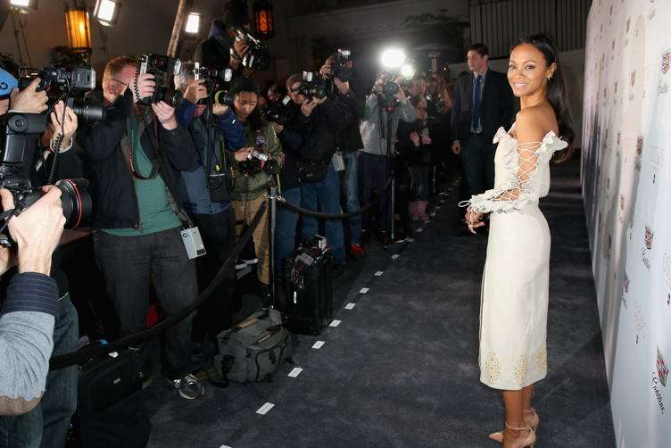Zoe Saldana attends the Cadillac Oscar Week Celebration at Chateau Marmont