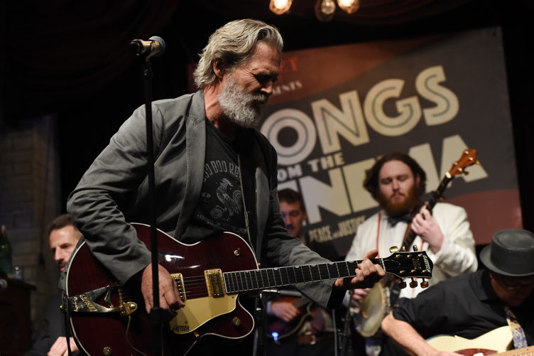 "Jeff Bridges performs at BOVET 1822 & Artists for Peace and Justice Present ""Songs From the Cinema"" Benefit on February 23, 2017"