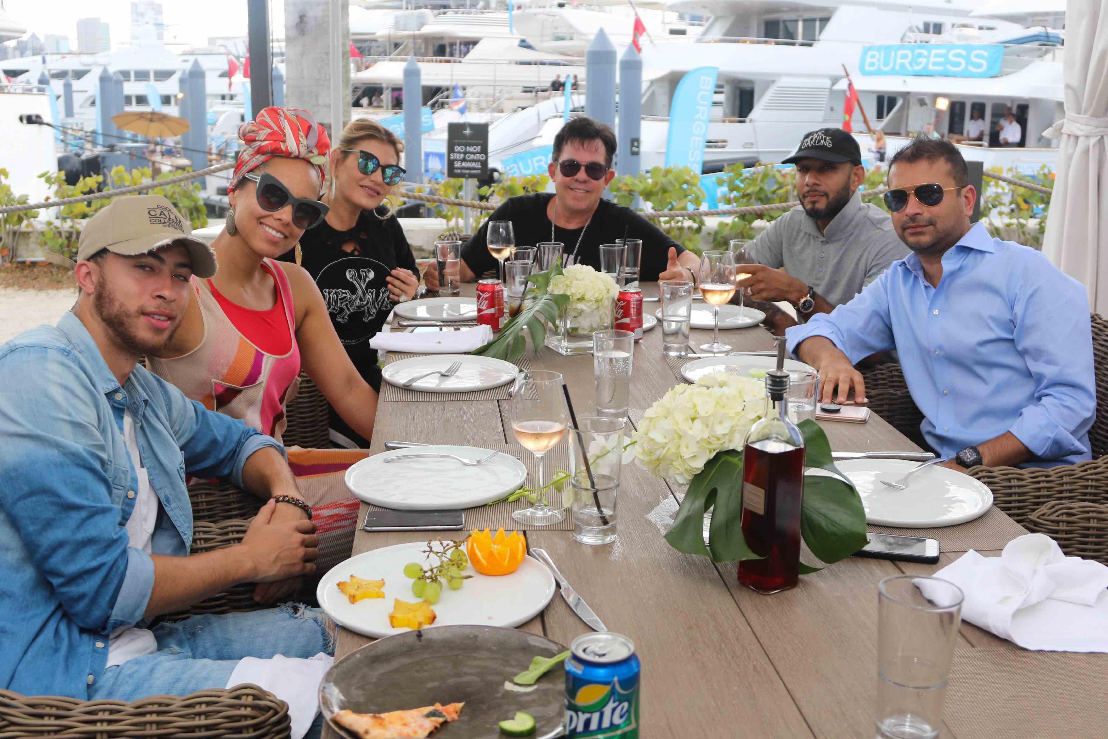 Cole Cook, Alicia Keys, Loren Ridinger, JR Ridinger, Swizz Beats and Kamal Hotchandani
