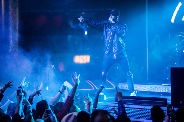 "Big Sean performs his new studio album ""I Believe"" at Drai's."