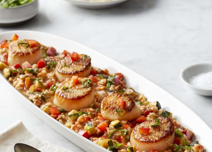 Sea Scallops & Ratatouille Risotto