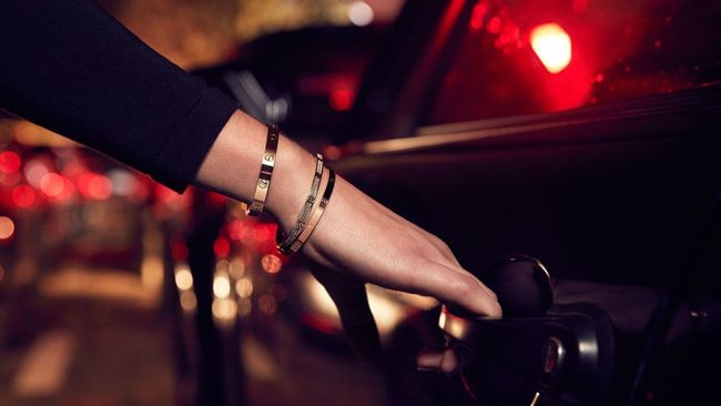 Cartier LOVE Bracelet car