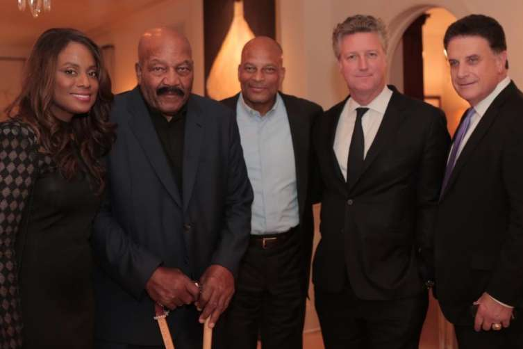 Monique and Jim Brown, Ronnie Lott and Yves de Launay