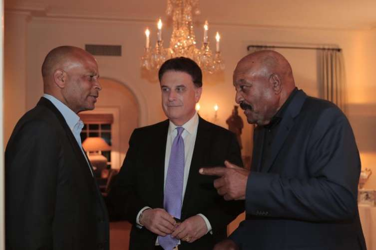Ronnie Lott and Jim Brown