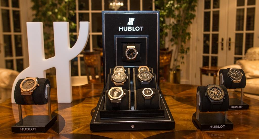 Hublot displayed several of its most iconic watches. | Thaddaeus McAdams