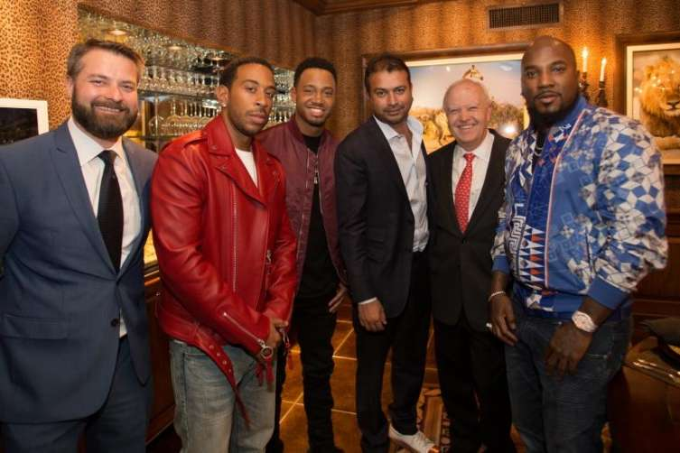From left to right: Ludacris, Terrance J. Kamal Hotchandani, John D. Chaney, and Young Jeezy